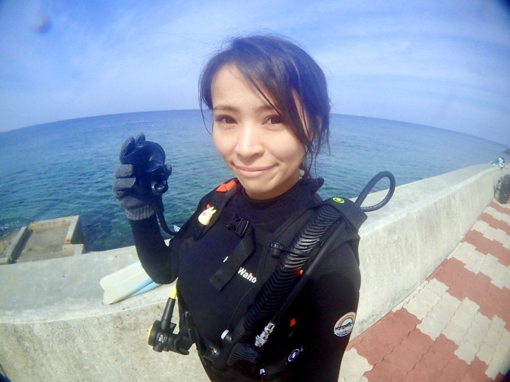 ダイビングライセンス講習 女子ひとり旅♪